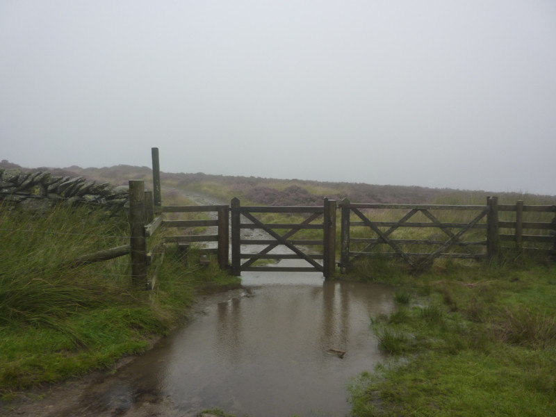 Flooded gate on the Cumbria Way