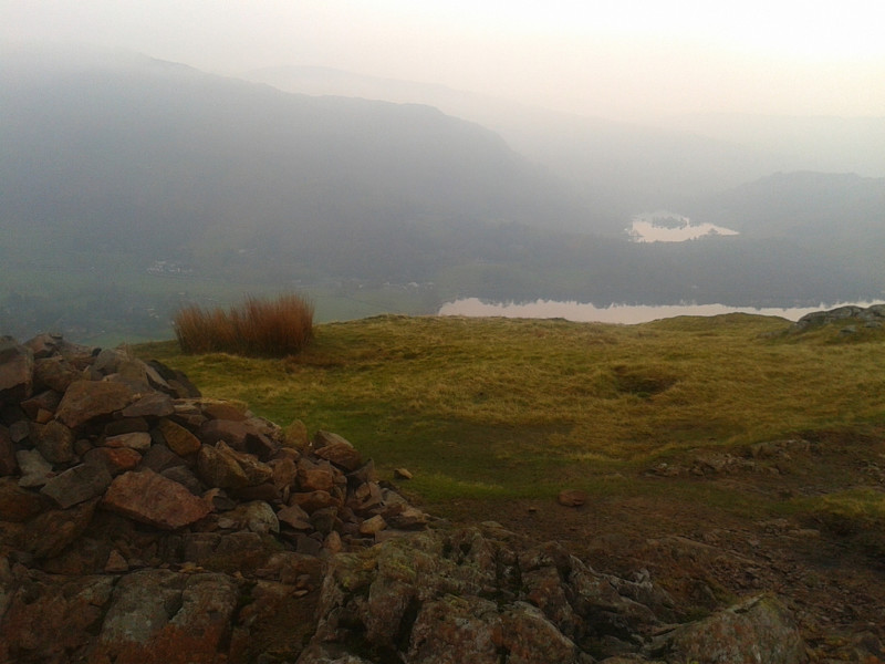 The summit of Silver How, with views of Elterwater and Windemere