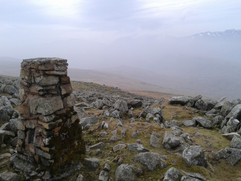 Trig point at the summit of High Raise