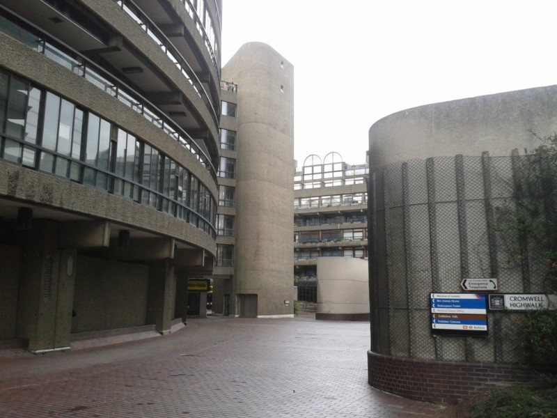 Barbican Centre, seen from one of the many walkways