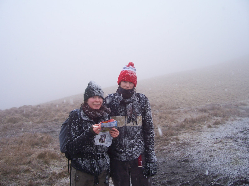 In a blizzard in the Pentlands