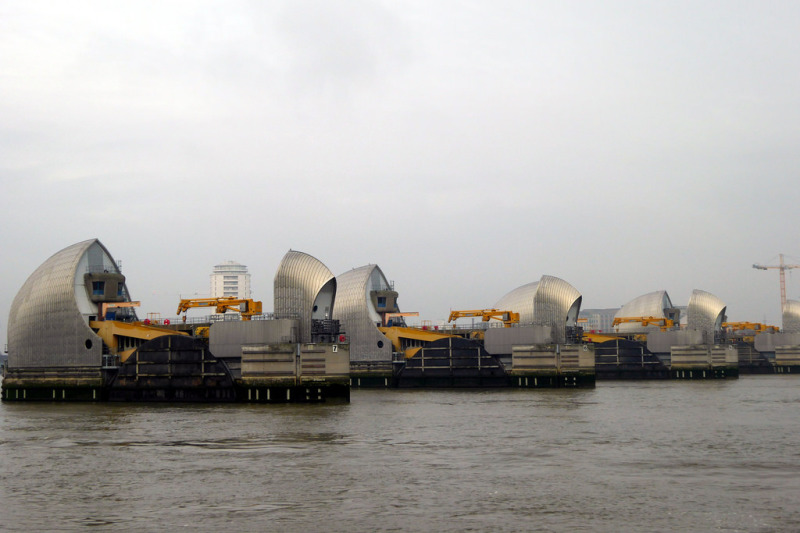 Thames Barrier at the start of the Thames Path Extension