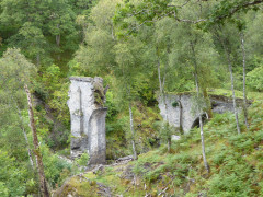 Remains of the High Bridge, seen from the Spean Bridge side