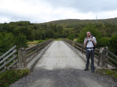 Standing at Gallovie Bridge