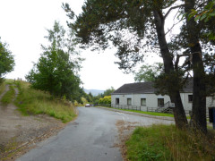 Entering the village of Laggan on the East Highland Way