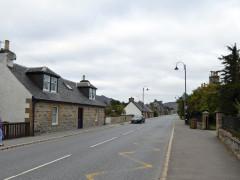 Walking along Newtonmore's main street