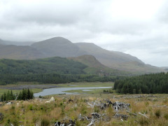 River Spean seen from Corrour Forest