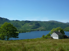 Doune bothy on the banks of Loch Lomond