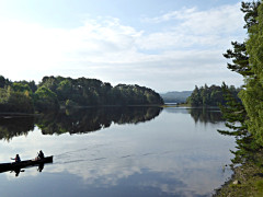 Boaters on the River Spean near Kincraig