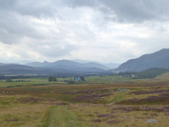 Looking back over Newtonmore