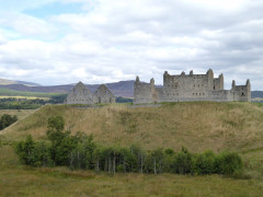 Ruthven Barracks, seen from the East Highland Way