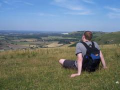 My good self, sat on a hill near Devil's Dyke, Sussex