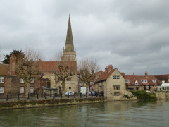 Abingdon, seen on the opposite side of the River Thames