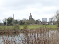 The church at Appleford and Didcott Power Station