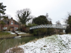 Little Wittenham Bridge, near Days Lock on the River Thames