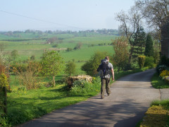 Leaving Thornton-in-Craven by the Pennine Way