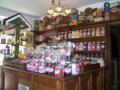 Racks of sweets at the Dalesman Cafe at Gargrave