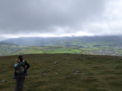 Sam and Catherine on top of Table Mountain, in the Brecon Beacons