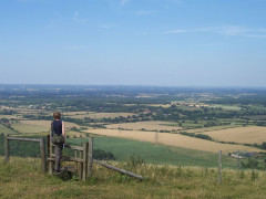 Crossing a stile on the South Downs, near Brighton