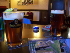 Pint of beer in the Buck Inn, Malham