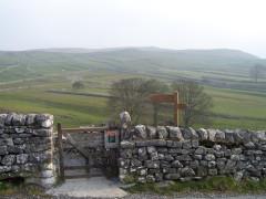 Gate at the edge of Malham village