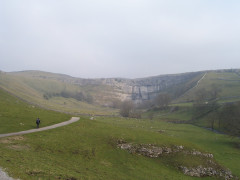 Approaching Malham Cove on the Pennine Way