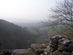 View from the edge of the Limestone Pavement at Malham Cove