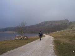Walking round Malham Tarn