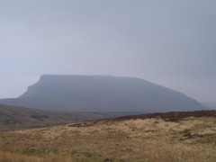 Pen-y-ghent seen in the haze and gloom