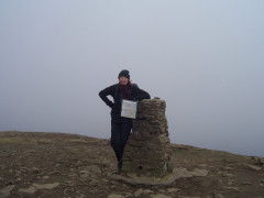 The summit cairn of Pen-y-ghent
