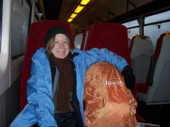 Catherine sat on a train to Gargrave
