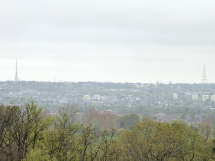 View of Croydon and Crystal Palace transmitters, seen from Addington Hill