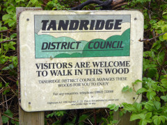 Rather old sign from Tandridge District Council