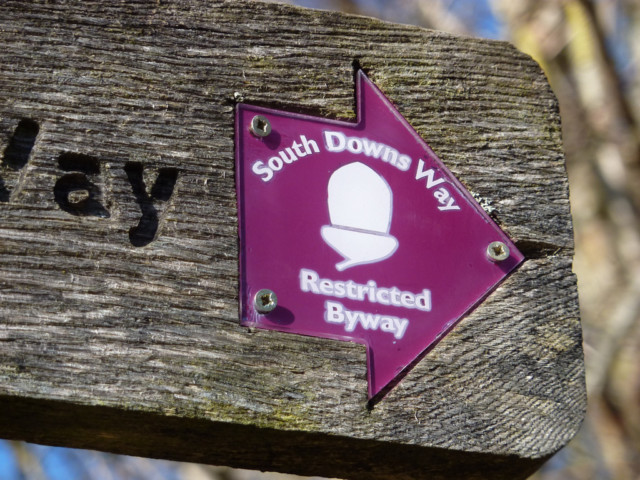 Signpost for the South Downs Way