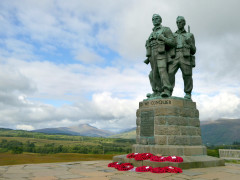 The Commando Memorial, Spean Bridge in the Highlands of Scotland