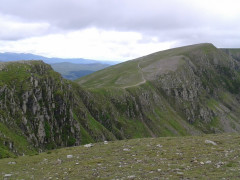 Looking towards High Crag and Nethermost Pike from the summit of Dollywagon Pike