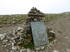 The Gough Momument, dedicated to artist Charles Gough who died on Helvellyn in the early 19th century