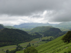 Looking towards the Northern Fells on the way up Helvellyn