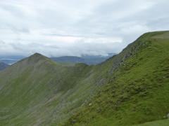 Swirral Edge, near the top of Helvellyn