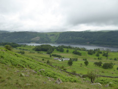 Looking down on Thirlmere reservoir