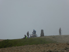 Bicycle near the Helvellyn trig point