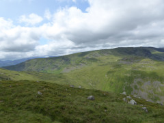 Little Hart Crag, seen from the side of Red Screes