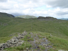 The ridge path from Red Screes to Little Hart Crag
