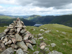 The cairn at the summit of Middle Dodd