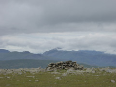 Cairn at the summit of Nethermost Pike