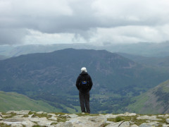 Looking out towards the Far Eastern Fells at Nethermost Pike