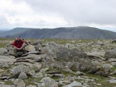 Sitting on rocks on Nethermost Pike