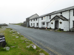 The Kirkstone Pass Inn, right next to the start of the ascent of Red Screes