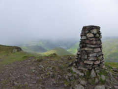 Trig point at the top of Red Screes