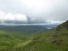 View towards Windermere from the side of Red Screes
